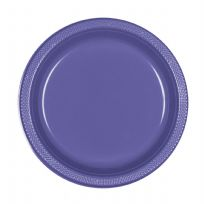 Purple Plastic Plates (10)